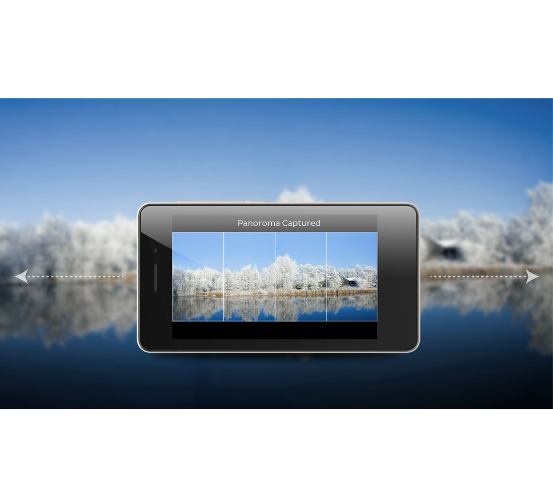 Capture images with horizontally elongated fields of view
